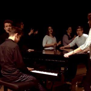 Julian Schmitz begleitet Glee-Chor Fürth beim Casting für den Deutschen Chorwettbewerb