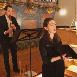 Julian Schmitz und Carolin Franke beim Weihnachtskonzert in Lenzburg