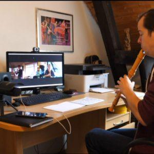 Julian Schmitz beim Online-Unterrichten